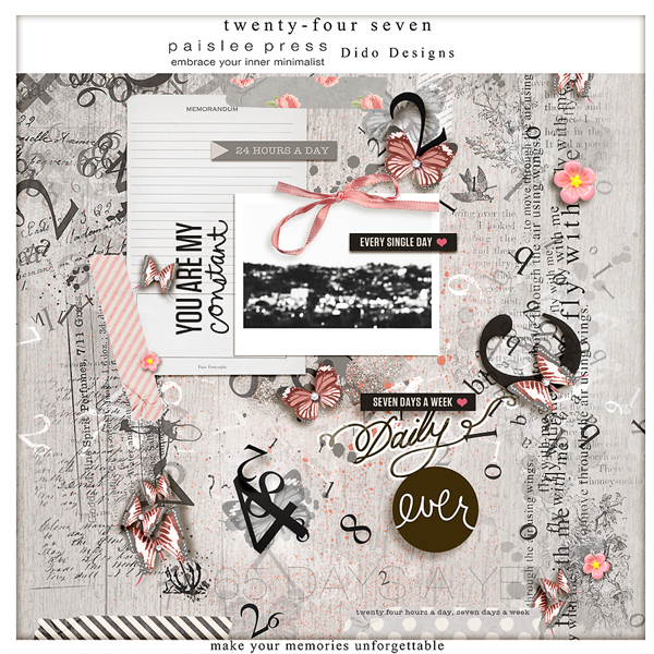 {24/7} a collab kit with Paislee Press by Dido Designs.