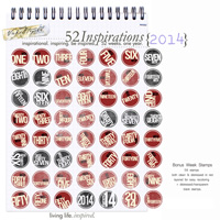 52 Inspirations 2014 - Bonus - Week Stamps
