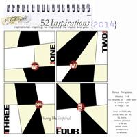 52 Inspirations 2014 - Bonus 3 - weekly Template - Weeks 1-4