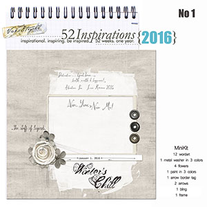 52 Inspirations 2016 - no 1