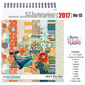 52 Inspirations 2017 - no 15 -  Seas The Day Mini Kit by Studio Flergs