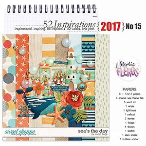 52 Inspirations 2017 No 15 Sea's The Day Mini Kit by Studio Flergs