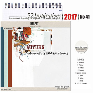 52 Inspirations 2017 - no 41 - Autumn by Maya de Groot