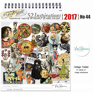 52 Inspirations 2017 -  no 44 Collage Fodder by Vicki Robinson