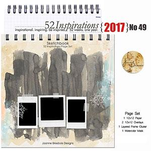 52 Inspirations 2017 - no 49 - Sketchbook Page Set by Joanne Brisebois