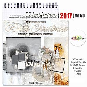 52 Inspirations 2017 - no 50 - White Christmas by NBK Design