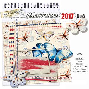 52 Inspirations 2017 No 08 Mini Kit by Vicki Stegall