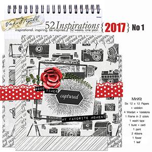 52 Inspirations 2017 No 01 Captured Mini Kit by Vicki Stegall