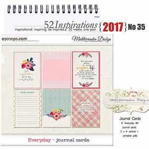 52 Inspirations 2017 -  No 35 by Mediterranka - Everyday Journal Cards