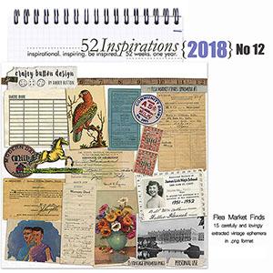 52 Inspirations 2018 No 12 - Flea Market Finds