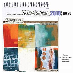 52 Inspirations 2018 No 20- Amber and Indigo Backgrounds