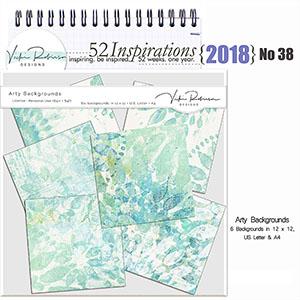 52 Inspirations 2018 -  no 38  by Vicki Robinson Arty Backgrounds