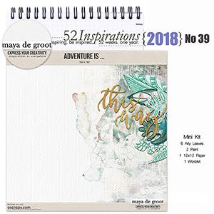 52 Inspirations 2018 No 39 Adventure Is Mini Kit by Maya de Groot