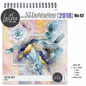52 Inspirations 2018 no 42 Joy of Art by Laitha