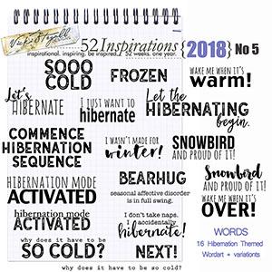 52 Inspirations 2018 - no 5 Hibernation Wordart