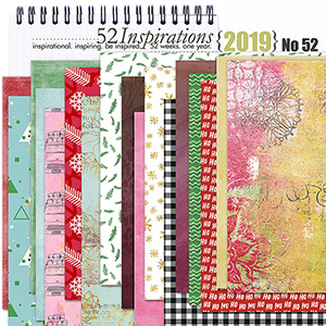 52 Inspirations 2019 - no 52 Christmas Inspired - Papers