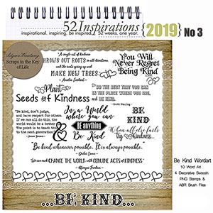 52 Inspirations 2019 -  No 3 Be Kind by Idgie's Heartsong