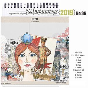 52 Inspirations 2019 No 36 Royal Mini Kit by Maya de Groot