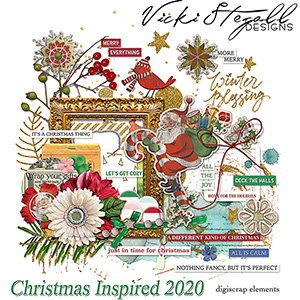 52 Inspirations 2020 Christmas Inspired Elements by Vicki Stegall