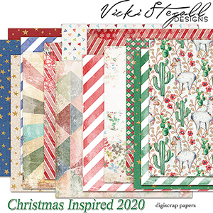 52 Inspirations 2020 Christmas Inspired Papers by Vicki Stegall
