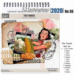 52 Inspirations 2020 No 36 The Farmer Mini Kit by Maya de Groot