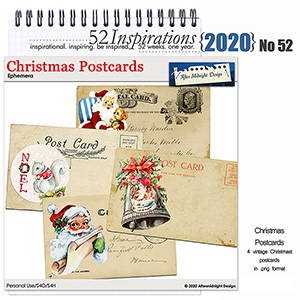 52 Inspirations 2020 No 52 Decorated Postcards by Aftermidnight Design