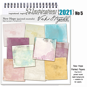 52 Inspirations 2021 No 05 New Hope Painted Scrapbook Papers by Vicki Stegall