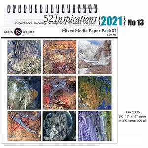 52 Inspirations 2021 No 13 Multi Media Papers 01 by Karen Schulz Designs