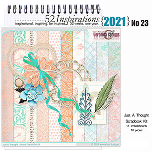 52 Inspirations 2021 No 23 Just a Thought Scrapbook Kit by Veronica Spriggs