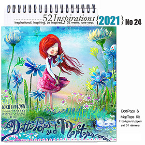 52 Inspirations 2021 No 24 DottiPops and MopTops Mini Kit by Lorie Davison