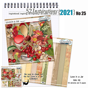 52 Inspirations 2021 No 25 Love in a Jar mini kit by Simplette Scrap