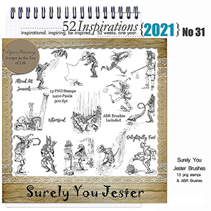 52 Inspirations 2021 no 31 Surely You Jester by Idgie's Heartsong