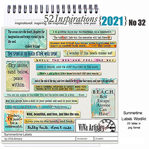 52 Inspirations 2021 No 32 Summertime Labels by ViVa Artistry