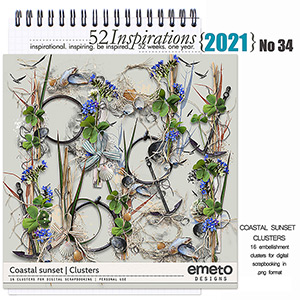 52 Inspirations 2021 No 34  Coastal Sunset Clusters by emeto designs