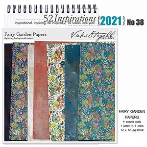 52 Inspirations 2021 No 38 Fairy Garden Scrapbook Papers