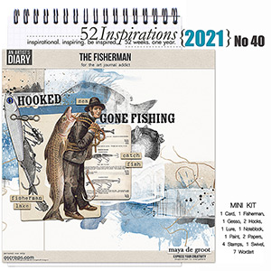 52 Inspirations 2021 No 40 The Fisherman Mini Kit by Maya de Groot