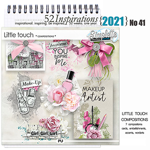 52 Inspirations 2021 No 41 Little Touch compositions by Simplette Scrap