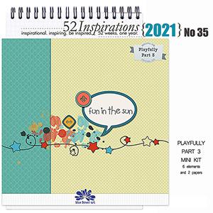 52 Inspirations 2021 No 35 PLAYFULLY pt 3 by Blue Flower Art