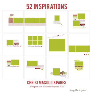 52 Christmas Inspired {Quick Pages} No. 1