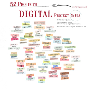 52 Projects No. 19A
