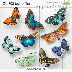 CU 703 BUTTERFLIES