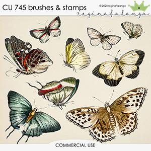 CU 745 BRUSHES & stamps