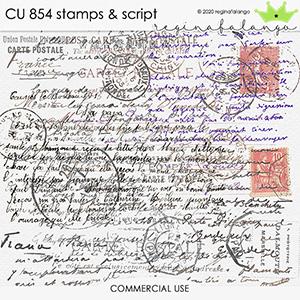 CU 854 STAMPS & SCRIPT