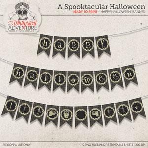 A Spooktacular Halloween Banner