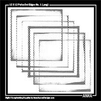 12 X 12 Polka Dot Edges No. 1