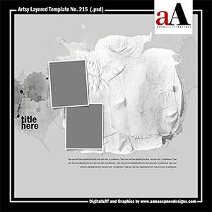 Artsy Layered Template No. 215