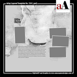 Artsy Layered Template No. 216