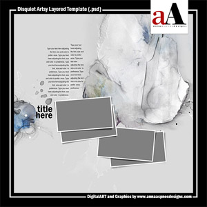 Disquiet Artsy Layered Template