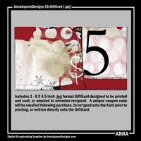 AnnaAspnesDesigns $5 GiftKard