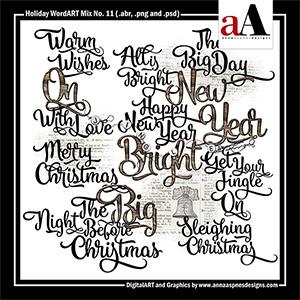 Holiday WordART Mix No. 11